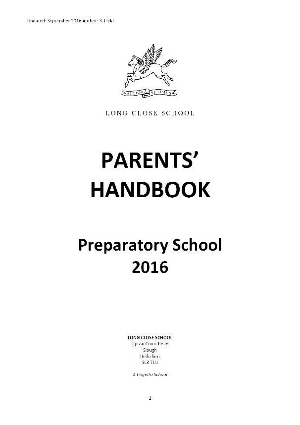 Parents' Handbook - Prep School