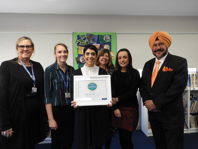 Long Close receives Literacy Award (2)
